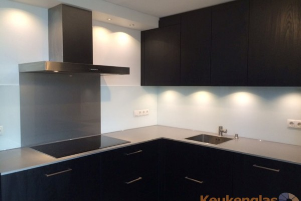 Keuken Achterwand Best metallic met wit
