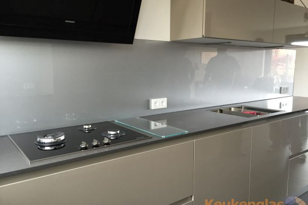 Grijze metallic glaswand Boxmeer 2