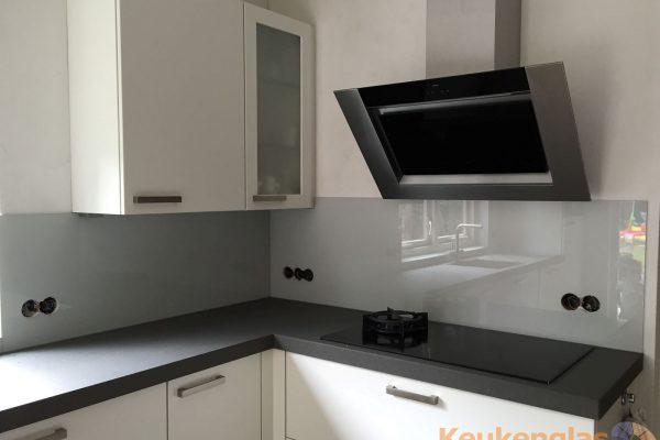 Grijze keuken achterwand van glas Zeist